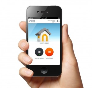 Smart phone controlled thermostat