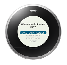 nest wifi thermostat fan  controls