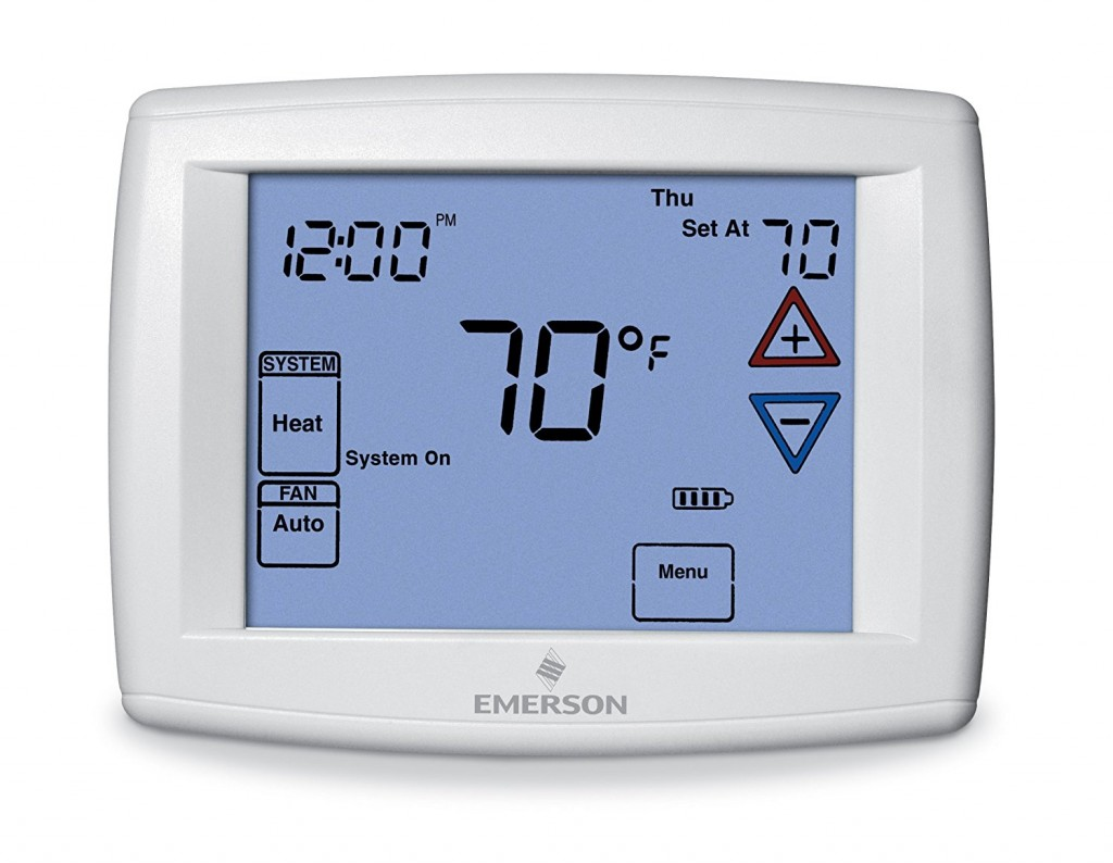 Emerson 1F95-1277 Universal Touchscreen 7-Day Programmable Thermostat-