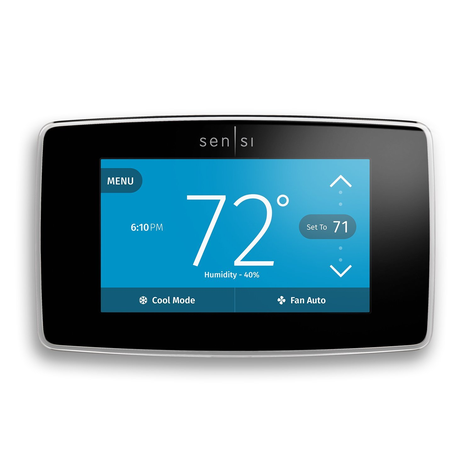 Heat pump thermostat with touchscreen and WiFi