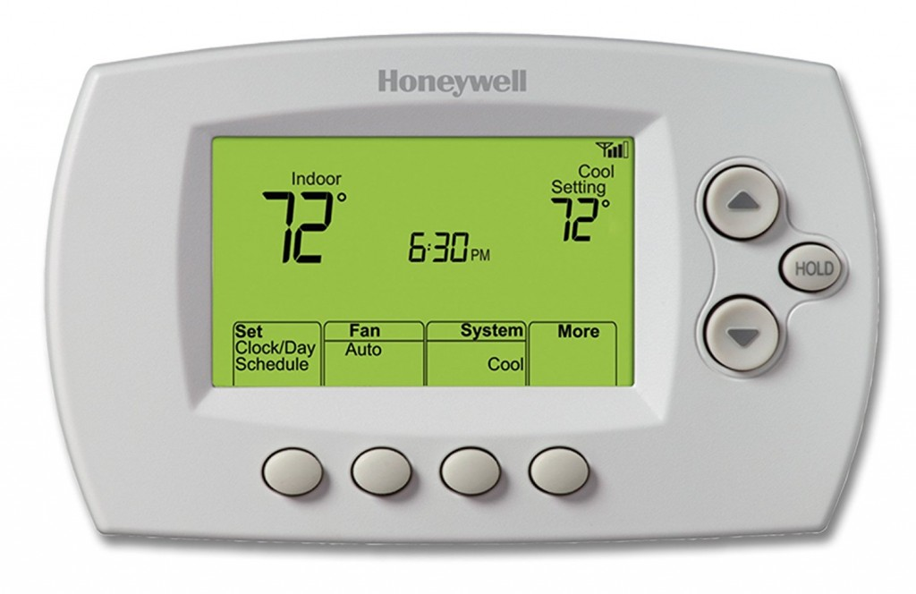 Heat pump thermostat with WiFi